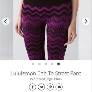 Lululemon Ebb to Street pant